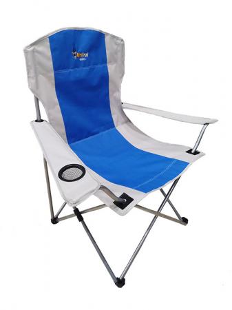Oryx Deluxe Folding Armchair 120kg Blue