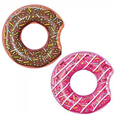 1.07m Donut Ring Chocolate Or Strawberry Assorted