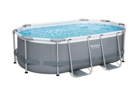 Power Steel Oval Pool Set 3.668L 3.05m x 2.00m x 84cm