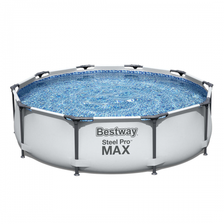 Steel Pro Max Frame Pool Set Grey 4.678L 3.05m x 76cm