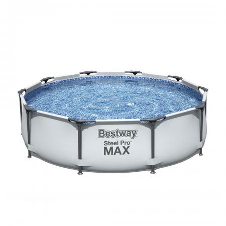 Steel Pro Max Frame Pool Set Grey 6.473L 3.66m x 76cm