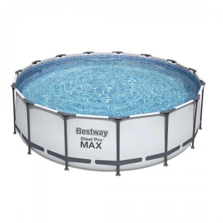 Steel Pro Max Frame Pool Set Grey 16.015L 457cm x 122cm