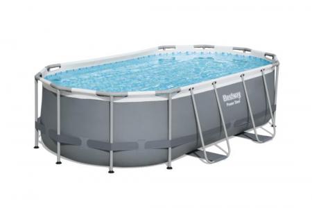 Power Steel Oval Pool Set 7.250L 4.27m x 2.50m x 1.00m