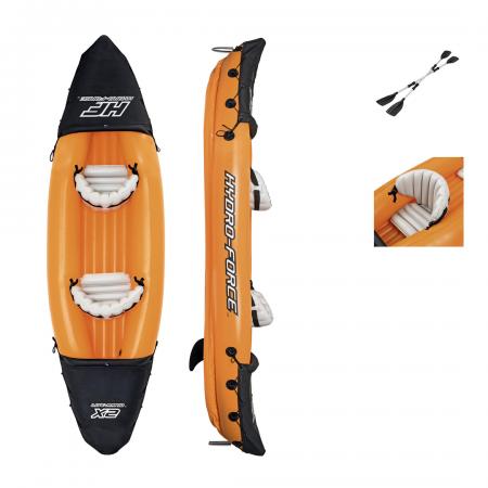 HydroForce 3.21m x 88cm Lite Rapid x2 Kayak (+ Paddles & Hand Pump)