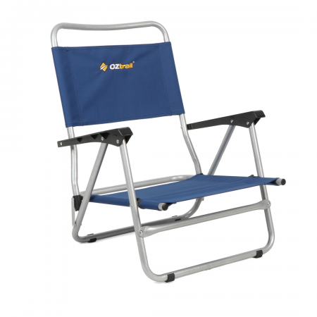 Beach Chair With Arms Blue