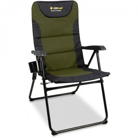 Resort 5-Position Arm Chair 150kg Navy