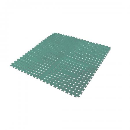 Foam Floor Mat Green (Pack of 4)