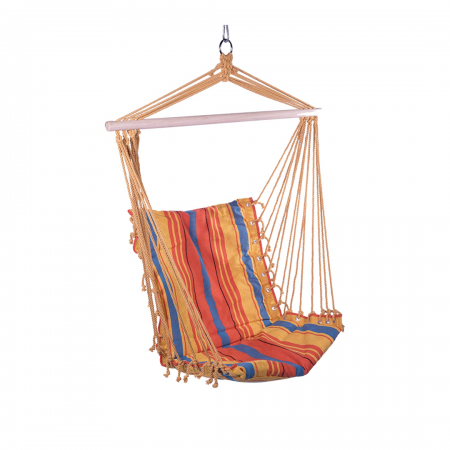 Hanging Hammock Chair with Multi Colour Stripes