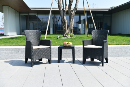 Bella Table & Chair Set 2-Seater Grey