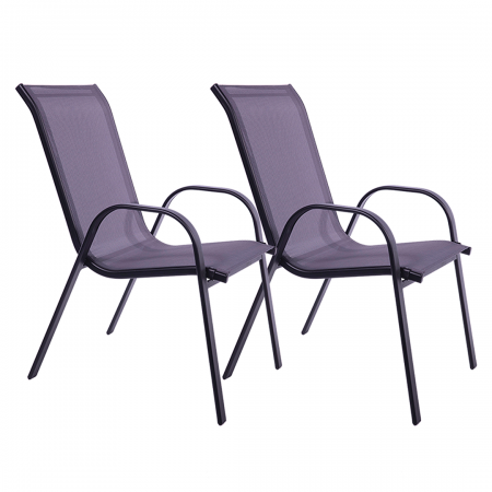 Patio Chair 2-Pack Graphite/Grey