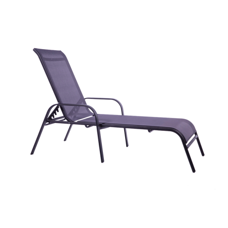 Pool Lounger 2-Pack Graphite/Grey