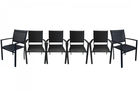 Milano Patio Chair 6-Pack  57 x 57 x 88cm