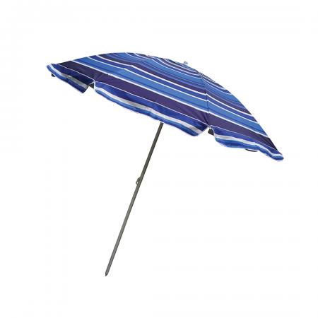 Beach Umbrella Silver Coated 225cm